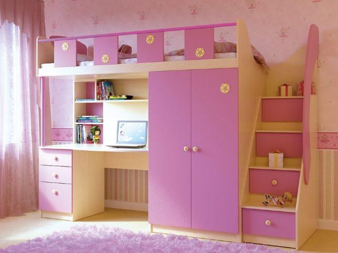 Модель в розовом цвете