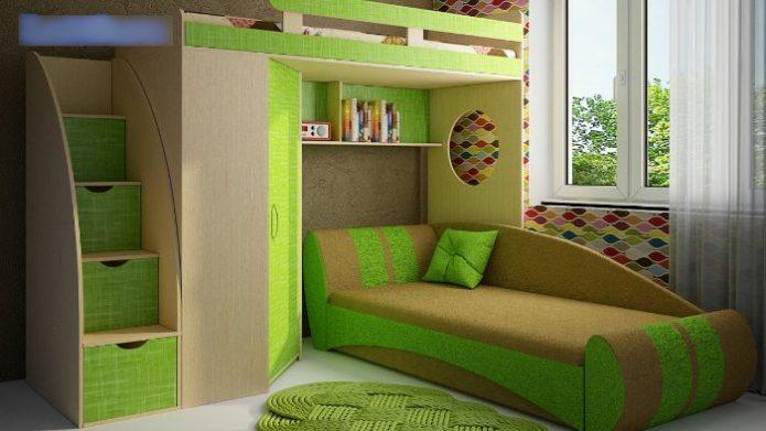 Модель с двумя спальными местами