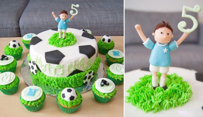 Футбольный торт для мальчика