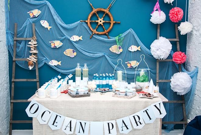 Морская тематика дня рождения ребенка
