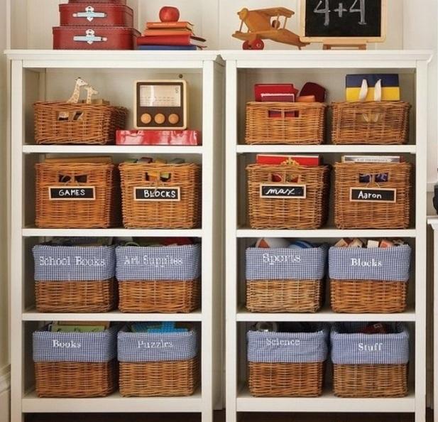 Система хранения из корзин