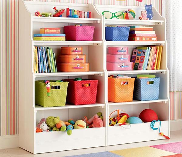 Яркие ящики и корзины