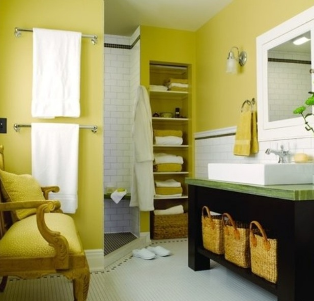 Система хранения в ванной комнате