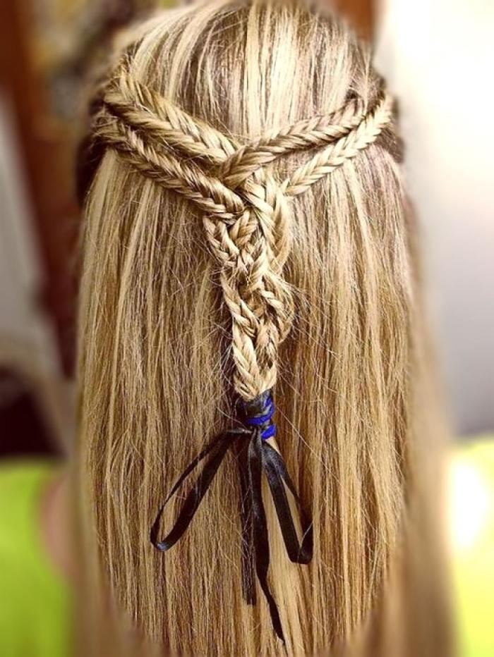 Причёска из нескольких кос