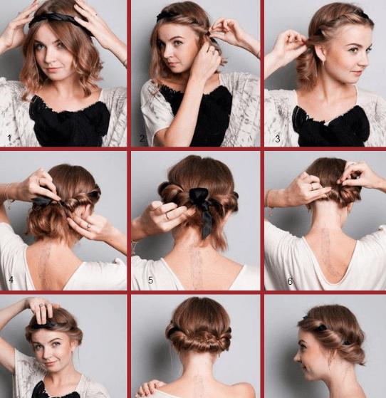 Причёска с повязкой
