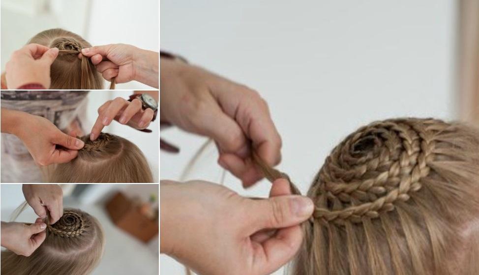 Причёска улитка с плетением