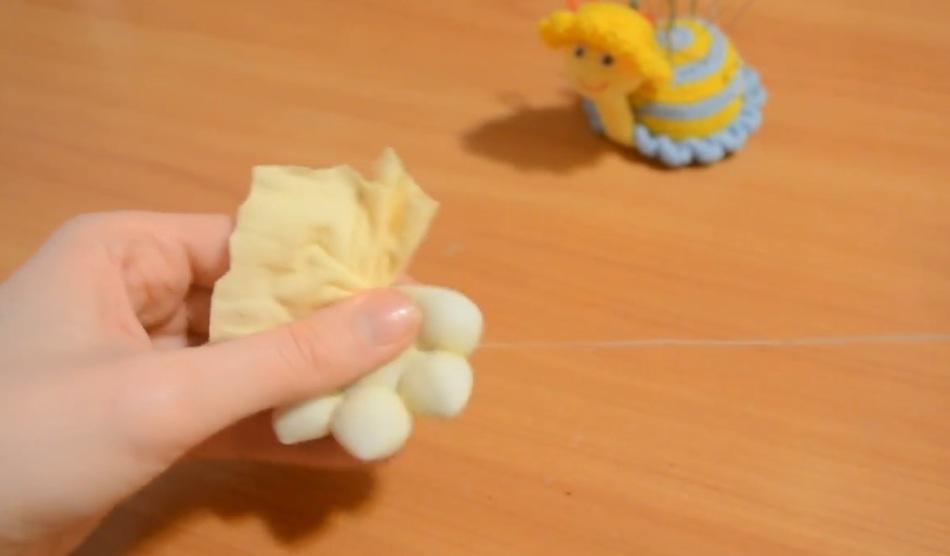 Процесс изготовления руки для домового из капрона