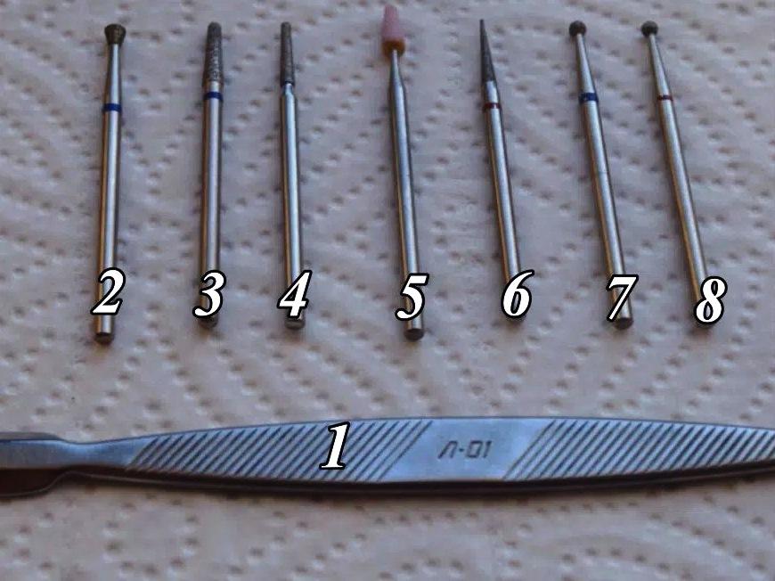 Пронумерованный набор инструментов