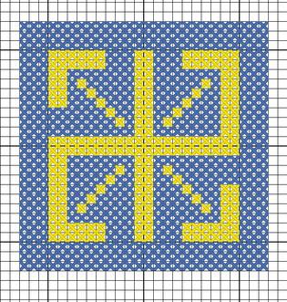 Схема вышивки символа Радинец