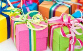 Разноцветные подарочные коробочки