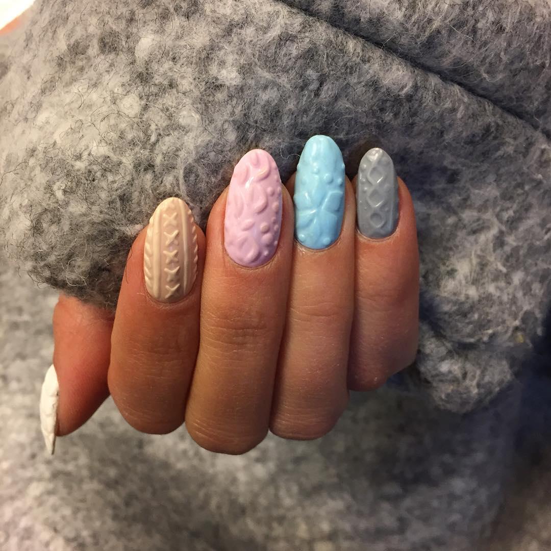 Фото дизайна ногтей свитер