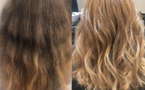 Результат окрашивания на русых волосах