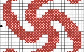 Схема вышивки символа Род