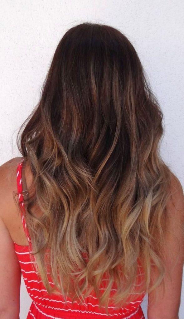 Окрашивание шатуш на темно русые волосы