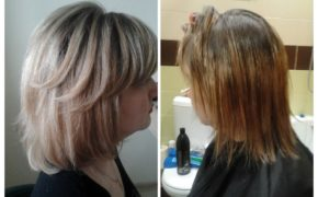 Мелирование шатуш на коротких волосах