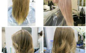 Шатуш на светлых и длинных волосах