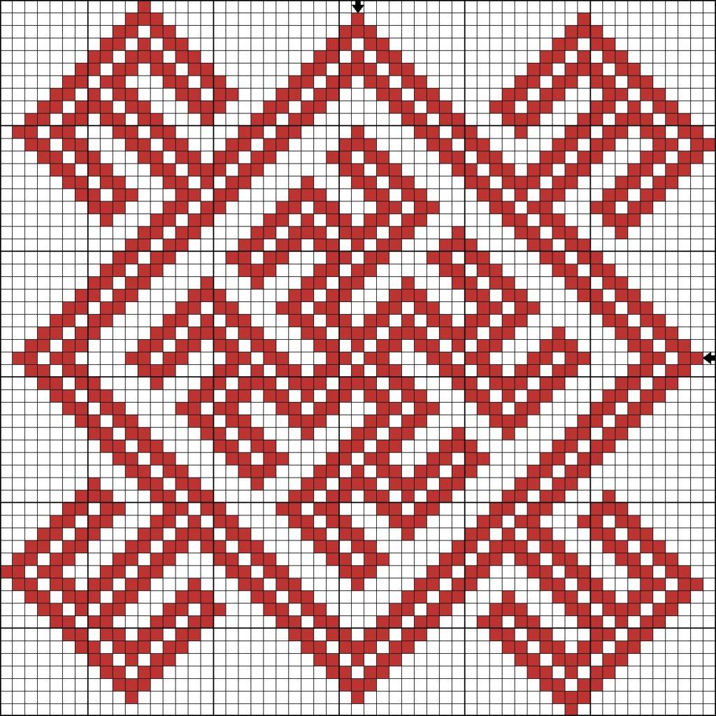 Схема вышивки крестом оберега Одолень-трава