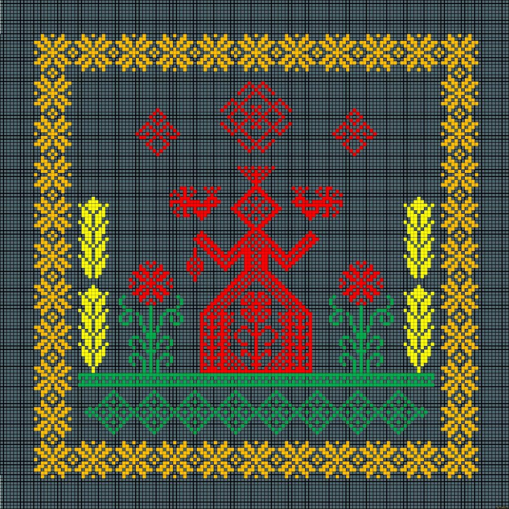 Символы и приметы в вышивке крестом - Мегавышивка 86