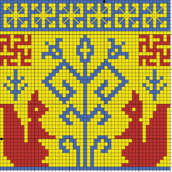 Схема вышивки оберега Белочка