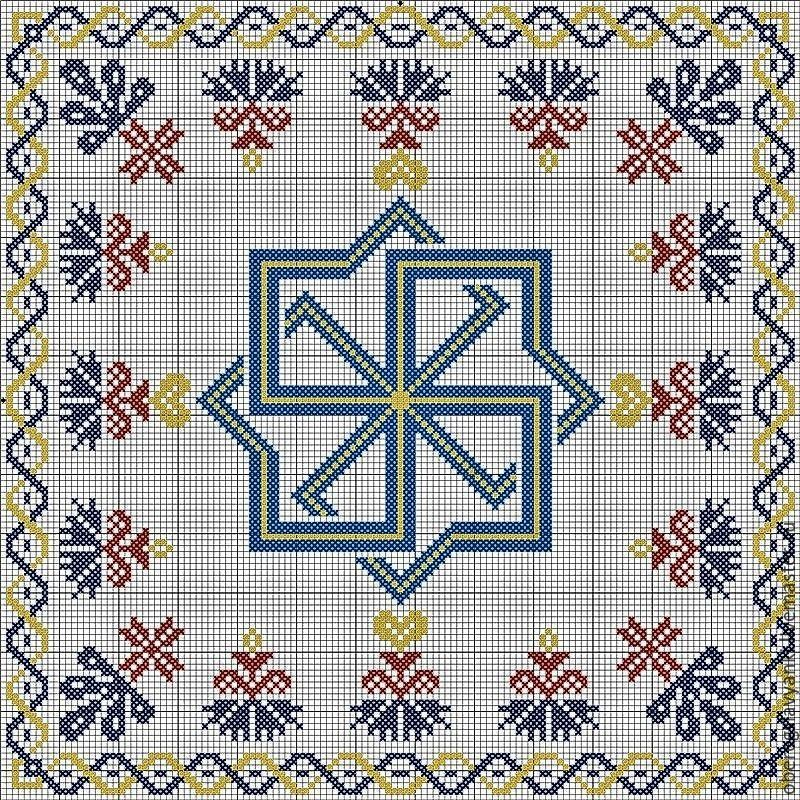 Схема вышивки оберега Молвинец
