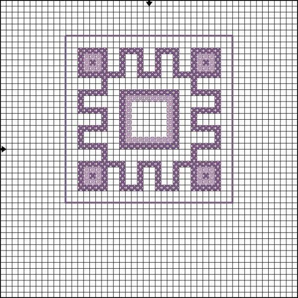 Схема вышивки символа Репейник счастья