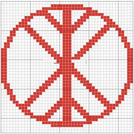 Схема вышивки символа Дерево жизни