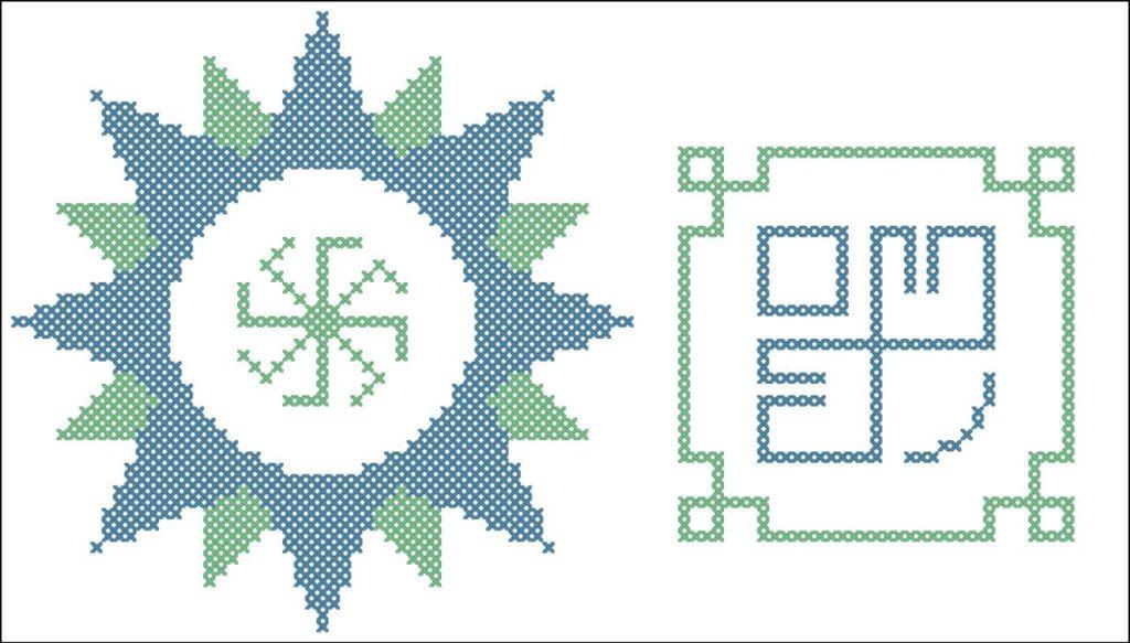 Схема вышивки символа Лёльник