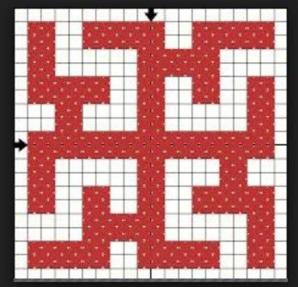 Схема вышивки символа Зайчик