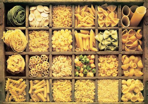 Шкаф с ячейками для макарон разного вида