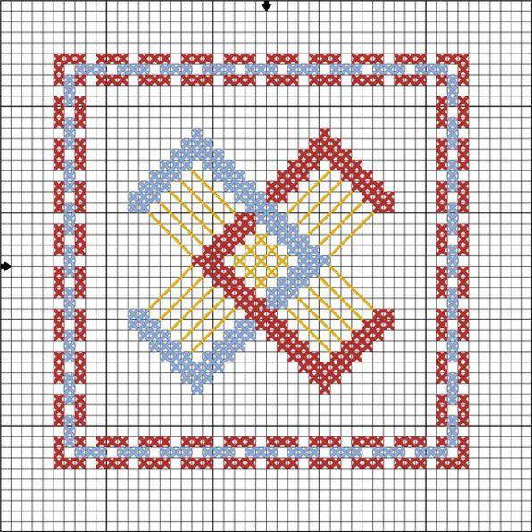 Схема вышивки символа единения семьи