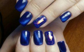 Синий нейл-арт