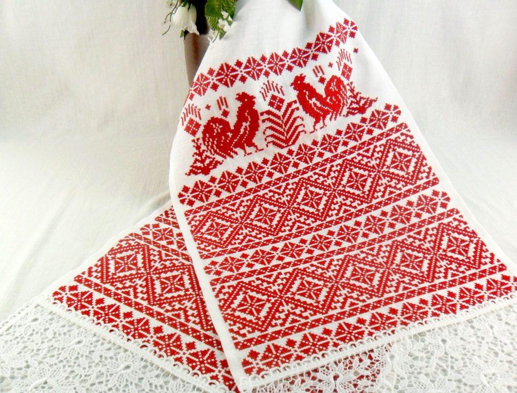 Славянский вышитый свадебный рушник
