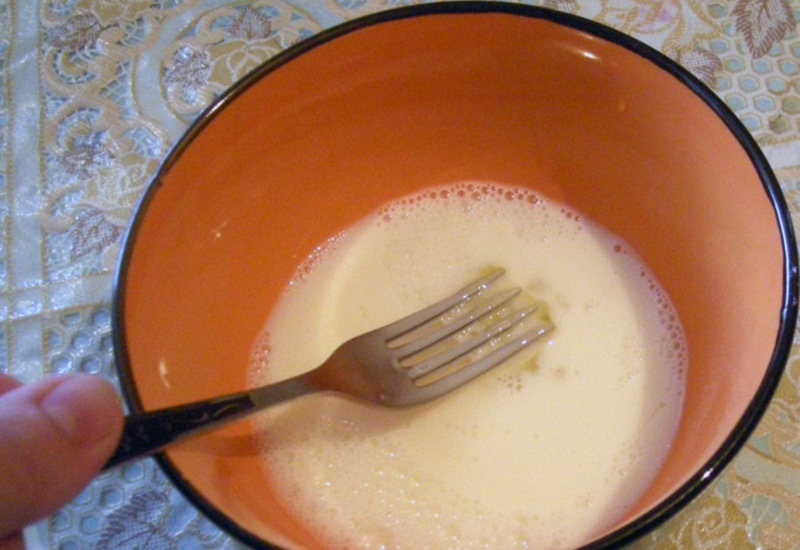 Смешивание белка с молоком