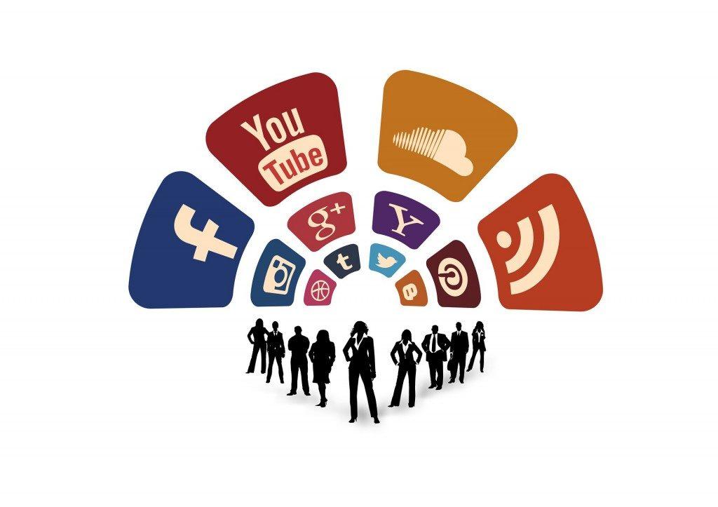 Значки социальных сетей, в которых можно найти предложения о работе