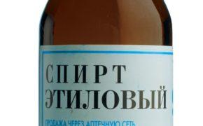 Спирт в бутылочке