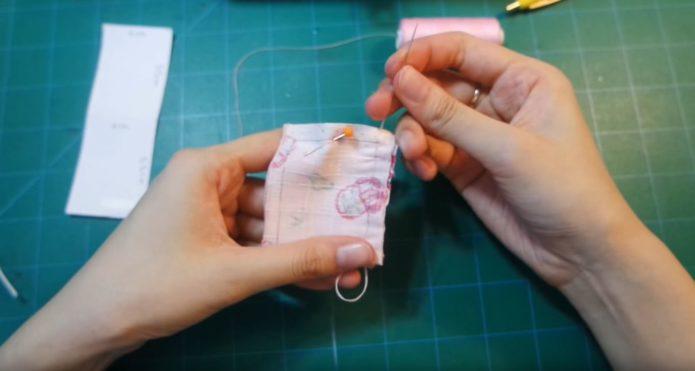 Сшивание прямоугольника для омамори