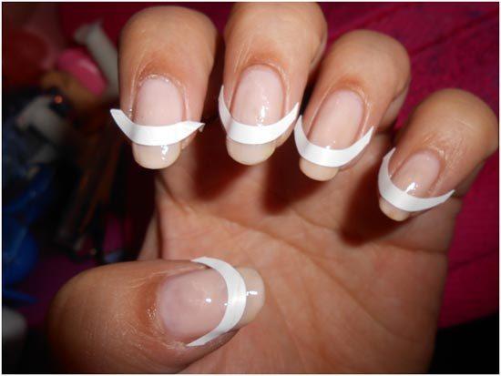 Стикеры для френча на ногтях