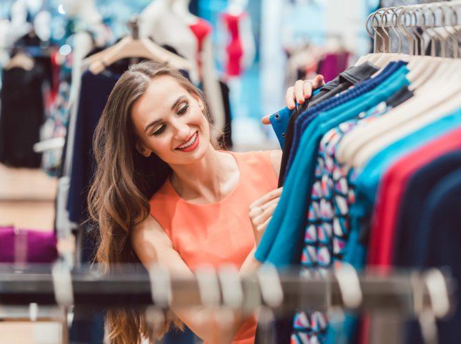 стоковый магазин брендовой одежды