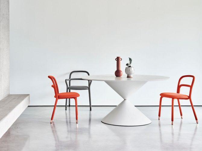 стильные дизайнерские обеденные столы