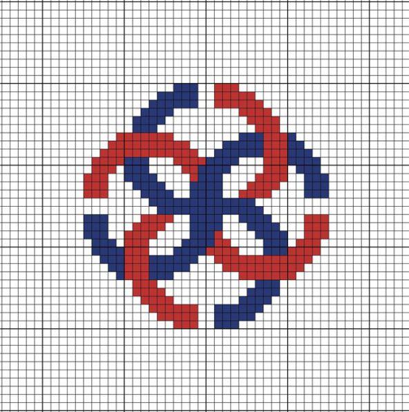 Схема вышивки символа Свадебник