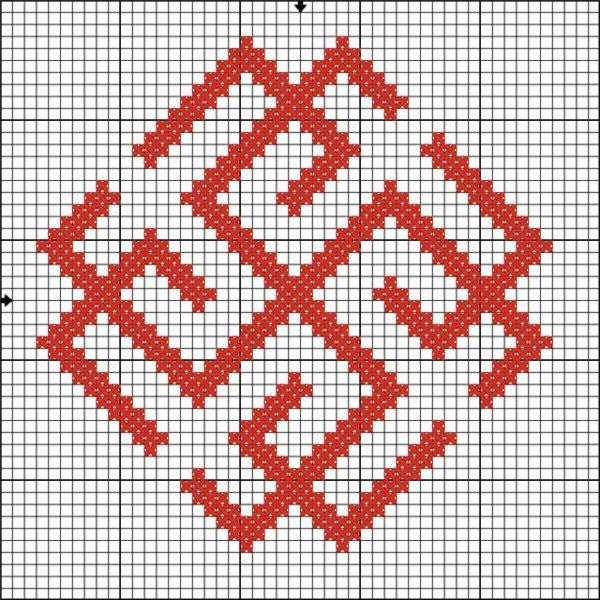 Схема вышивки символа Сварожич