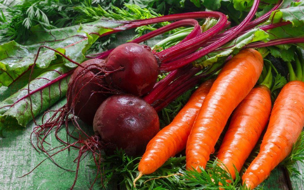 Свёкла с морковью