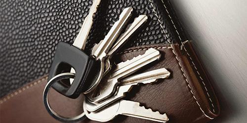 Связка ключей на блокноте
