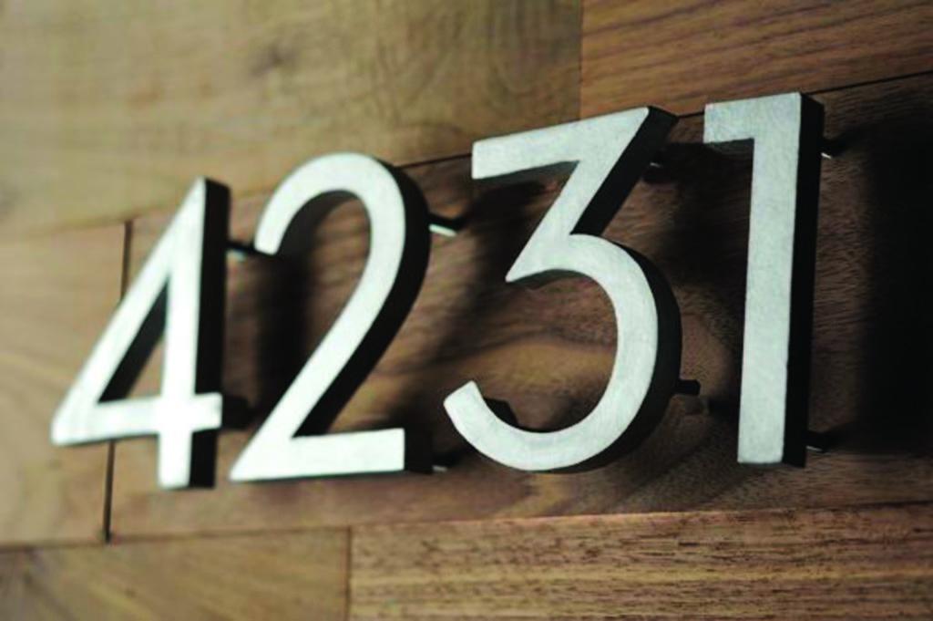 Табличка с цифрами