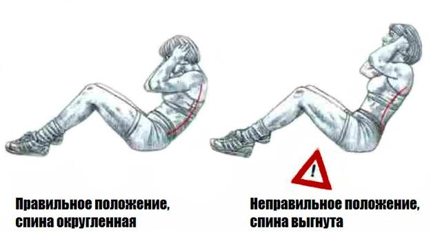 техника безопасности во время выполнения упражнений