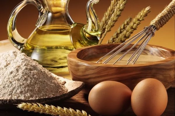 Яйца, масло, мука