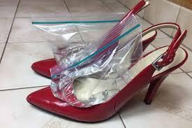 Как растянуть только носок в туфлях