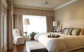 Традиционная классика оконного проёма спальни