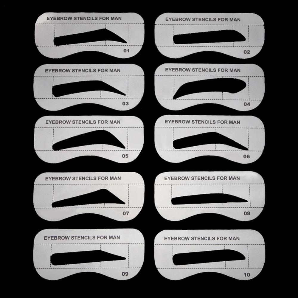 Трафарет для коррекции мужских бровей