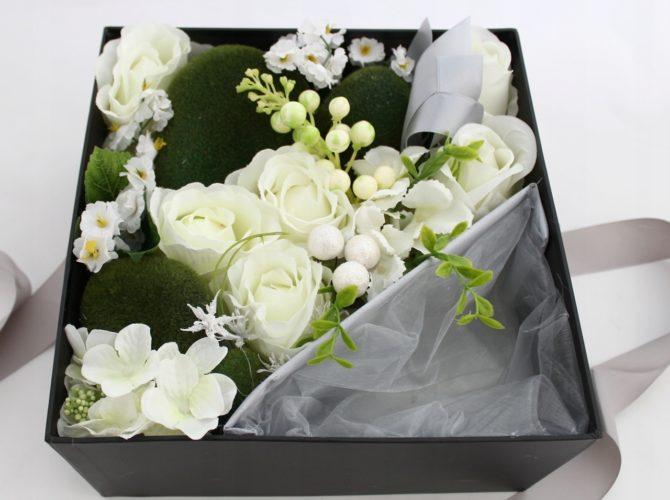 упаковка цветов в коробку